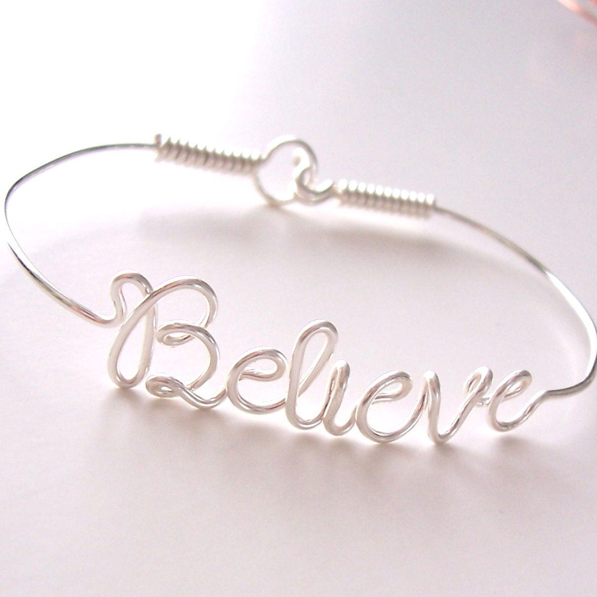 Bracelet, Wire Name Bracelet, Wire Name, Personalized, Wire Name ...