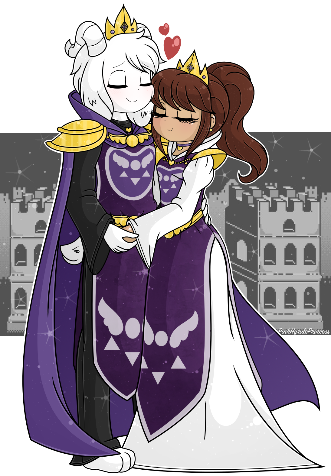 King And Queen Rulers Of The Monsters In 2020 Undertale Cute Anime Undertale Undertale Art