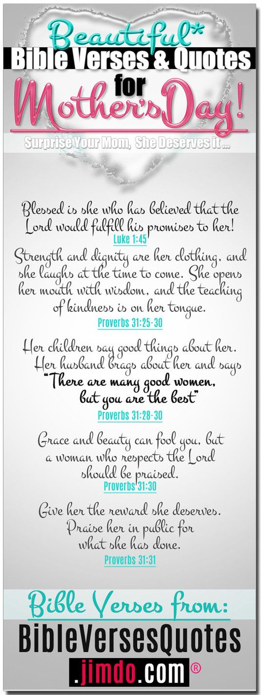 Bible Quotes For Mothers Day Interesting Beautiful Bible Verses For Mother's Day  Verses Bible And Free Bible