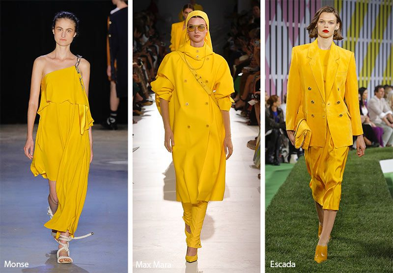 f8eb1e234098 Spring  Summer 2019 Color Trends  Aspen Gold  trends  fashion  runway   fashiontrends  aspengold  yellow