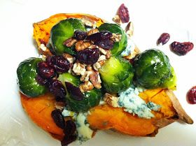 Baked Sweet Potato Entree with Brussels, pecans ...