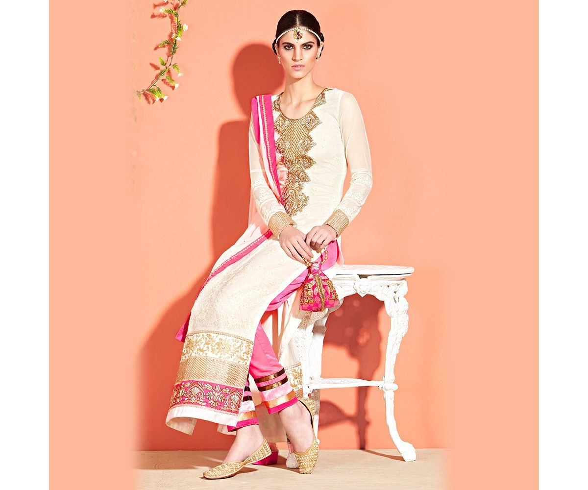 Cream long straight suit wedding bride and colors pinterest
