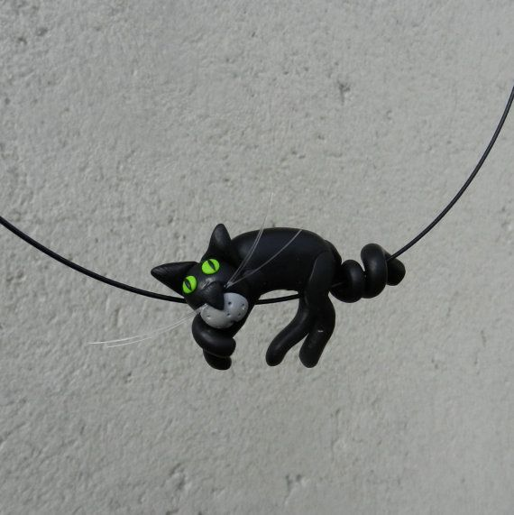 Funny Pendants Black Cats