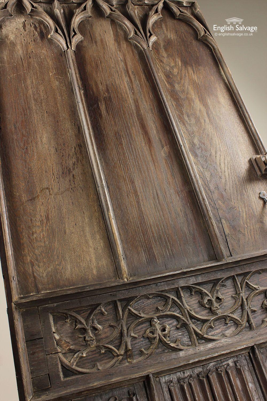 Reclaimed Antique Oak Gothic Door & Reclaimed Antique Oak Gothic Door | Reclaimed Doors | Pinterest ...
