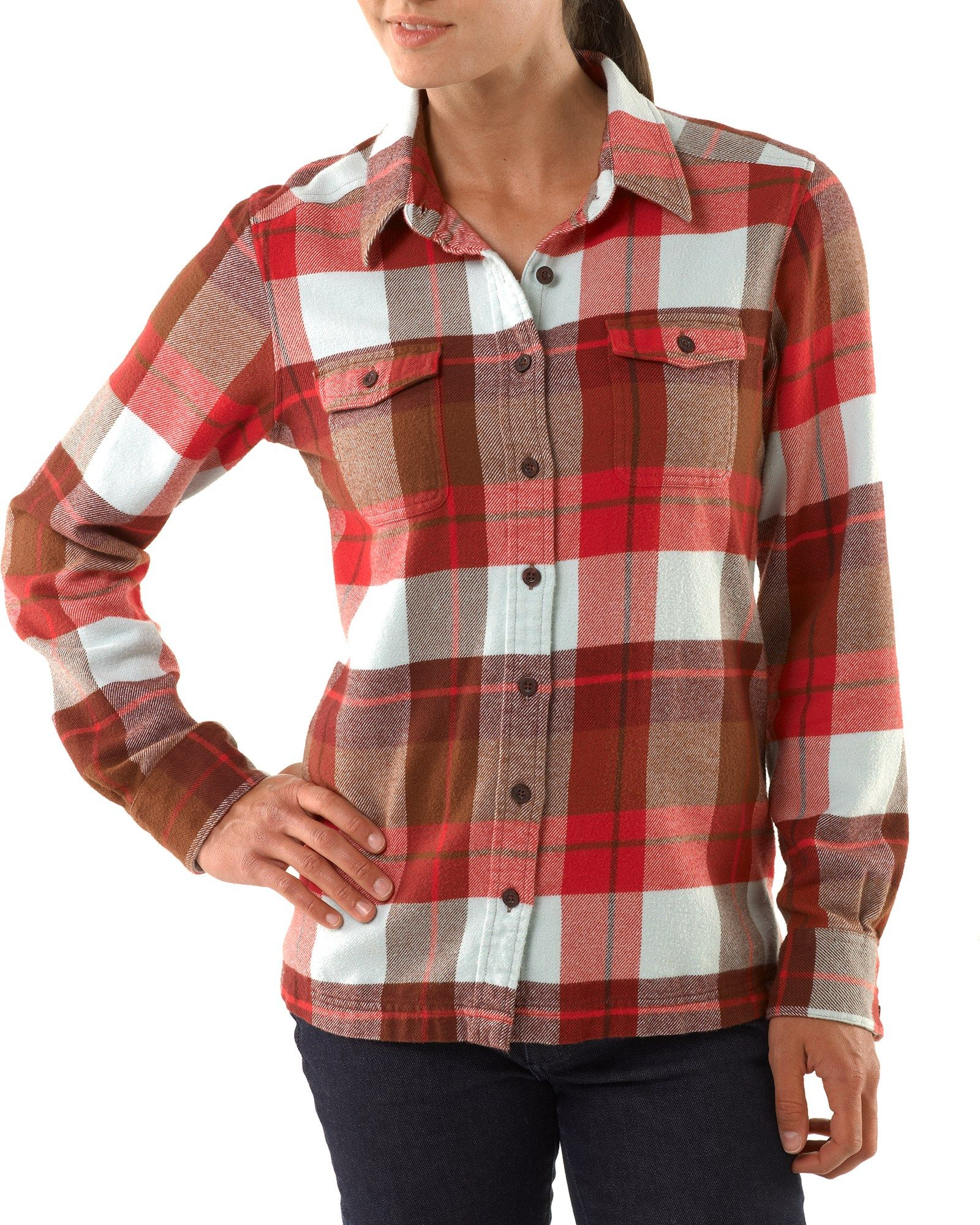 8d97b14a Patagonia Women's Fjord Flannel Shirt Navy Blue/Boxwood Plaid 14 ...