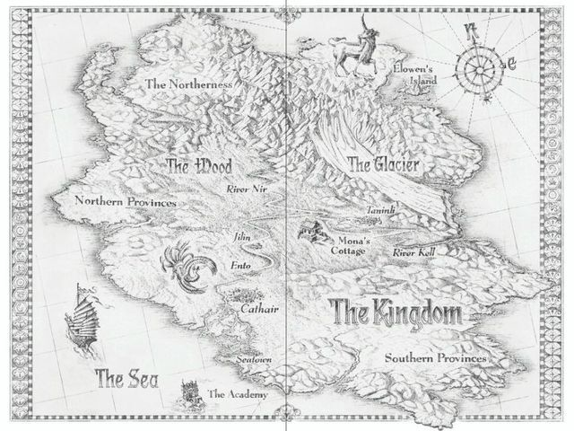 The Kingdom From Huntress By Malinda Lo Little Brown Map