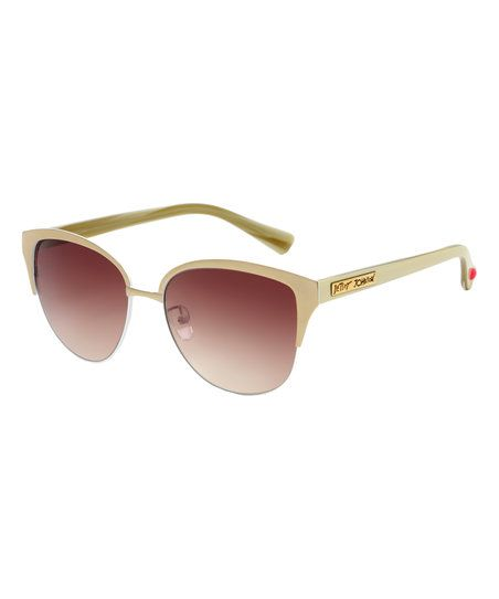 0fac6166579 Betsey Johnson Gold Metal Retro Sunglasses