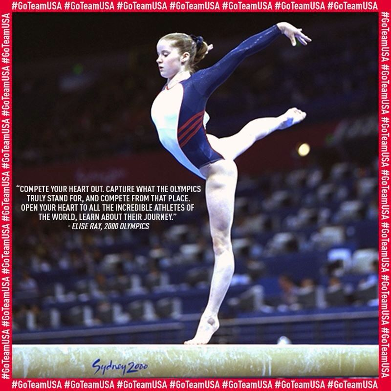 Elise Ray's Olympic appreciation Usa gymnastics, Olympic