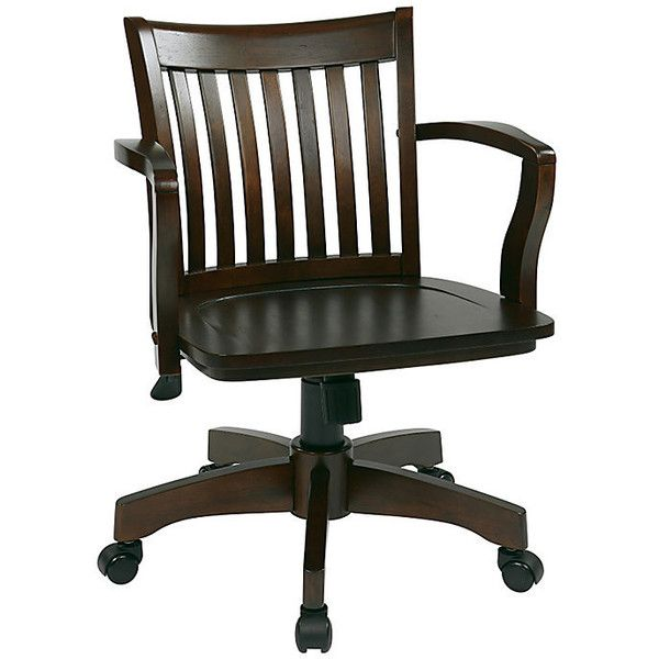 deluxe wooden home office. Deluxe Wood Bankers Office Chair With Arms (\u20ac220) ❤ Liked On Polyvore Featuring Wooden Home
