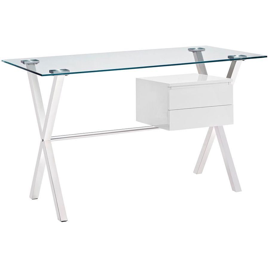 Sherwood Modern Desk With White Drawers White Desk Office