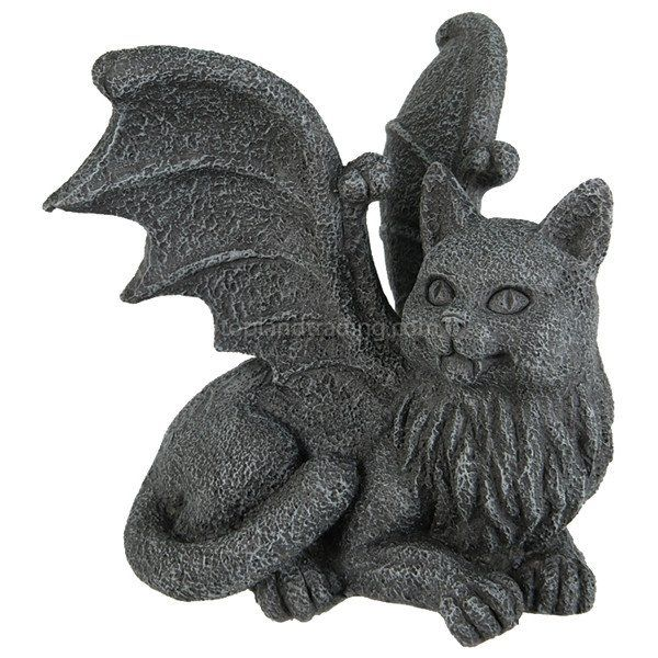 Meval Cat Gargoyle Statue Chimera Winged Kitty Figurine Gothic Home Decor Shelf Topper