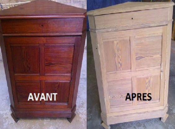 Comment décaper naturellement vos vieux meubles en bois ? TRAVAUX - Comment Peindre Un Meuble Vernis