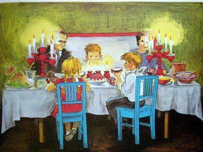 Bullerbyn Jul bord
