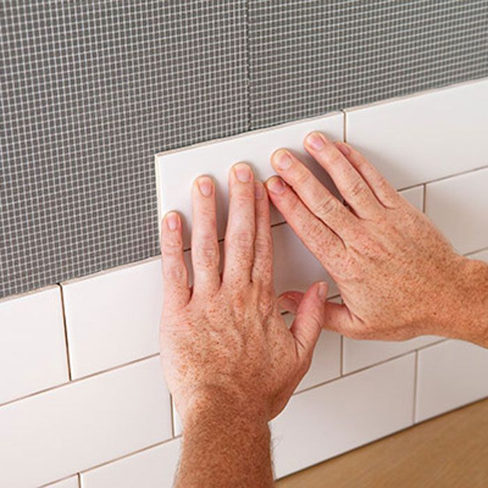 Bondera To Stick Up Tiles And Then Grout Over Backsplash Made Easier Lowes Creative Diy Home Improvement Home Repairs