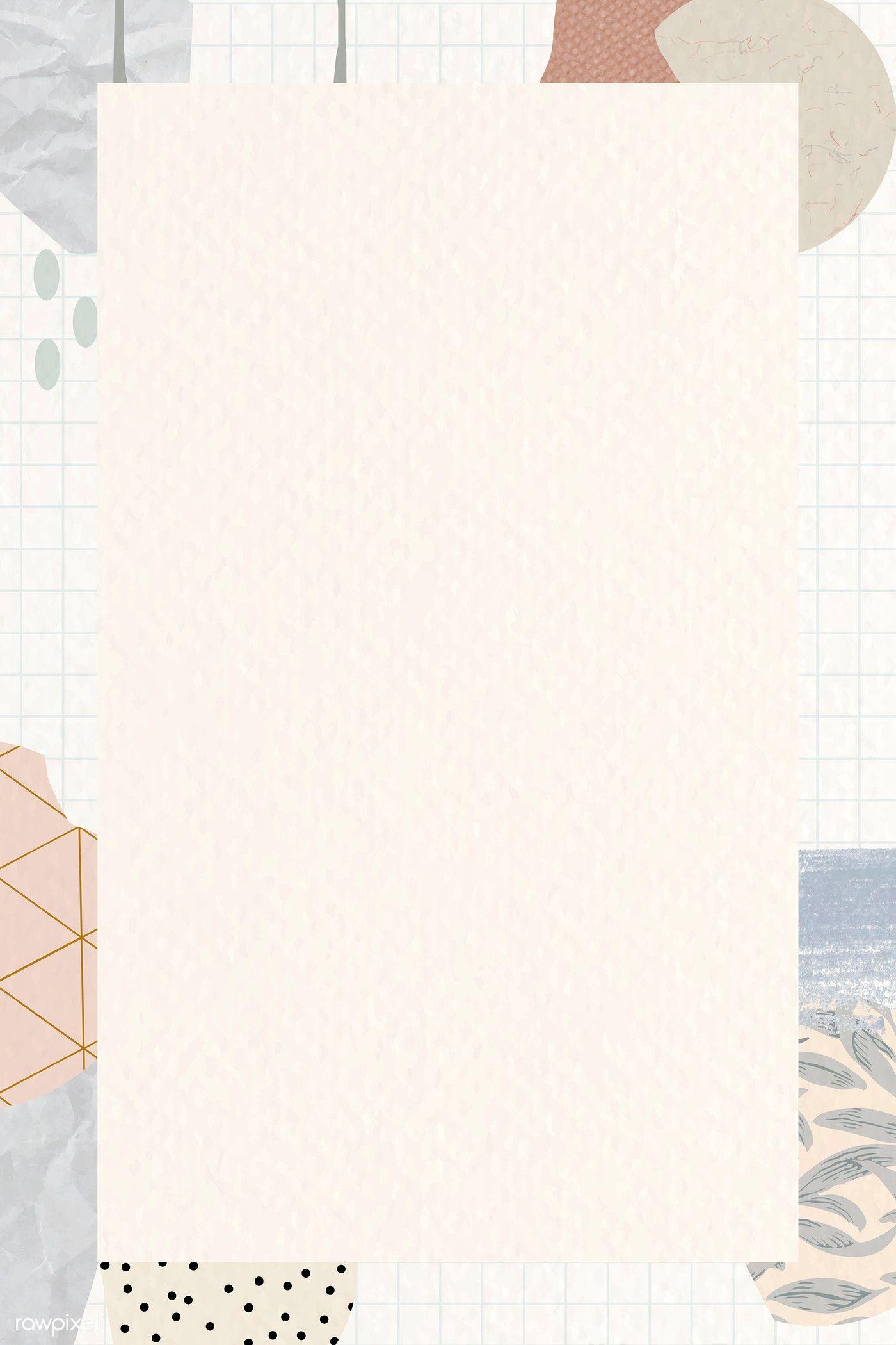 Download premium vector of Terrazzo frame on beige