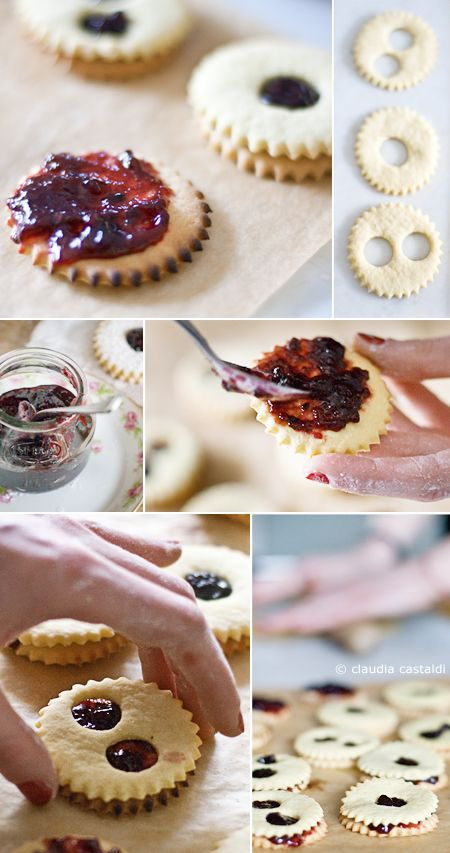 baking day - filling cookies with jam