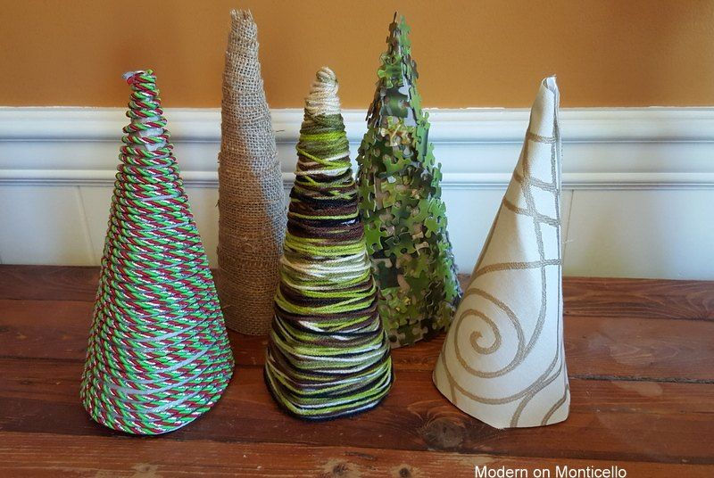 Cone Shaped Christmas Trees Made From Cereal Boxes Cone