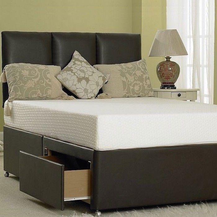 Hilliard Divan Leather Designer Bed - Luxury Fabric Beds - Beds.co ...