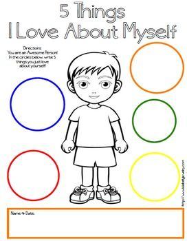 5 Things I Love About Myself Free Printables - Boy & Girl Version ...