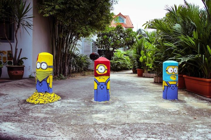 Minions Street Art Springs Up in Singapore - My Modern Metropolis