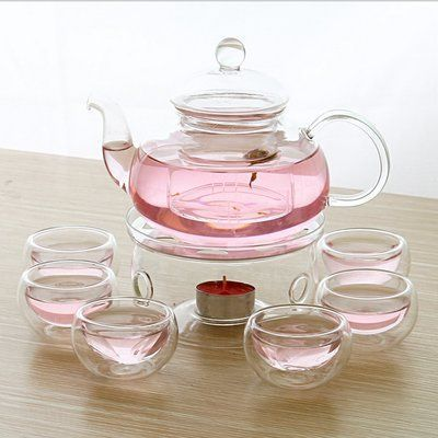Winston Porter Gatton 9 Piece Glass Tea Set | Wayfair #teasets