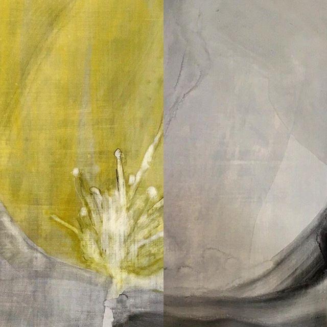 花の絵二枚を組み合わせました。#japan#fineart#contemporaryart#abstractart#painting#drawing#draw#arte#kunst#flower#botanical#アート#絵画#花