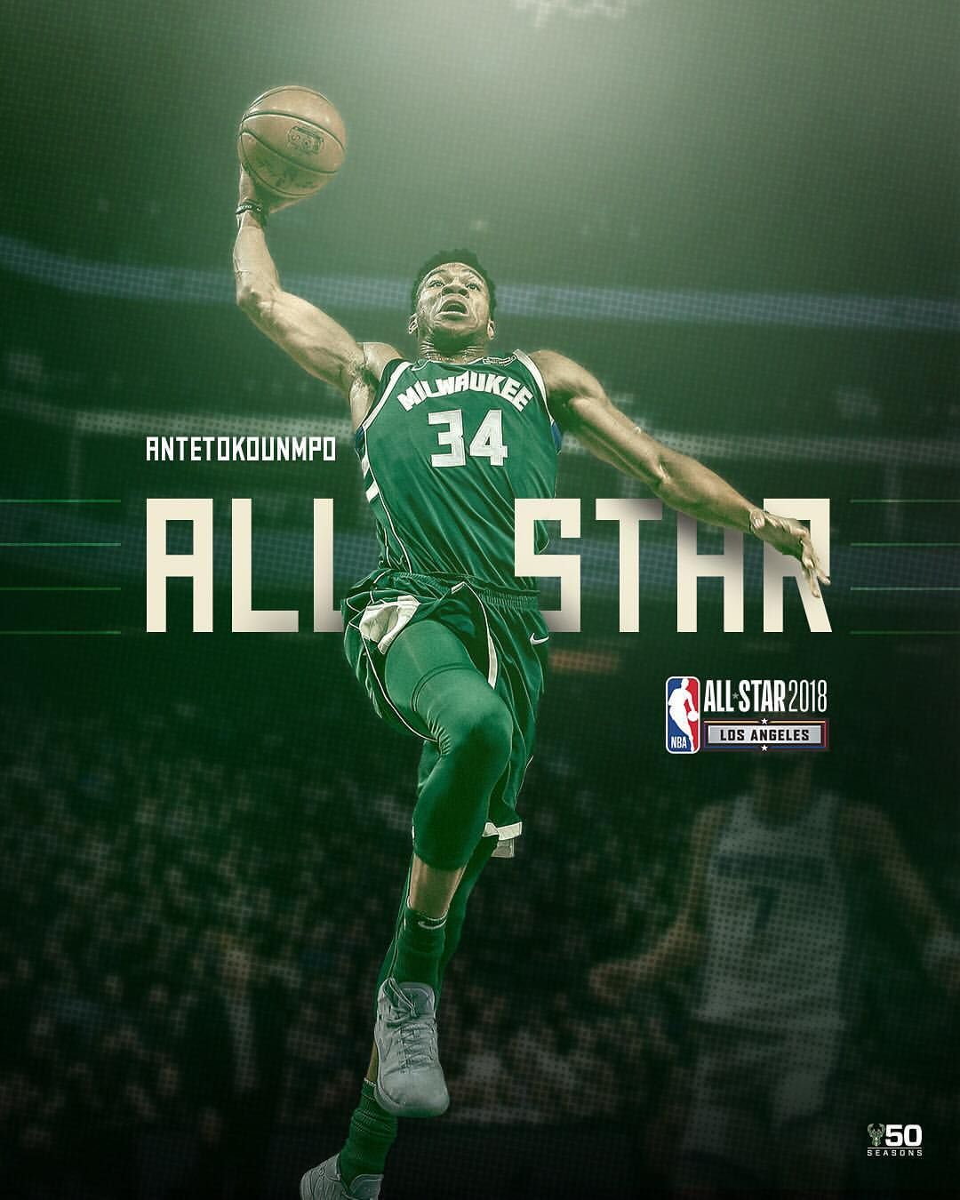 For The Second Consecutive Year Giannis Antetokounmpo Has Been Voted A Starter In The All Star G Giannis Antetokounmpo Wallpaper Basketball Players Nba Gianni