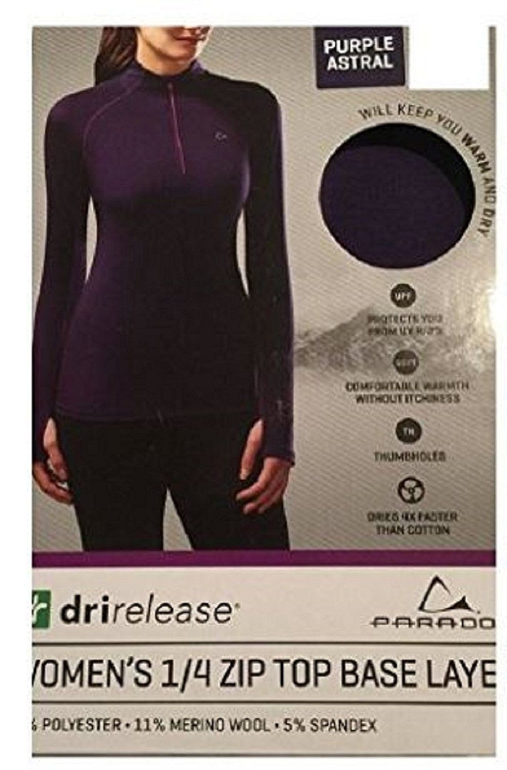 Women's Clothing, Active, Active Base Layers, Performance Women's Merino  Blend Zip-Up Base Layer Top - Purp… | Base layer women, Base layer top, Base  layer clothing