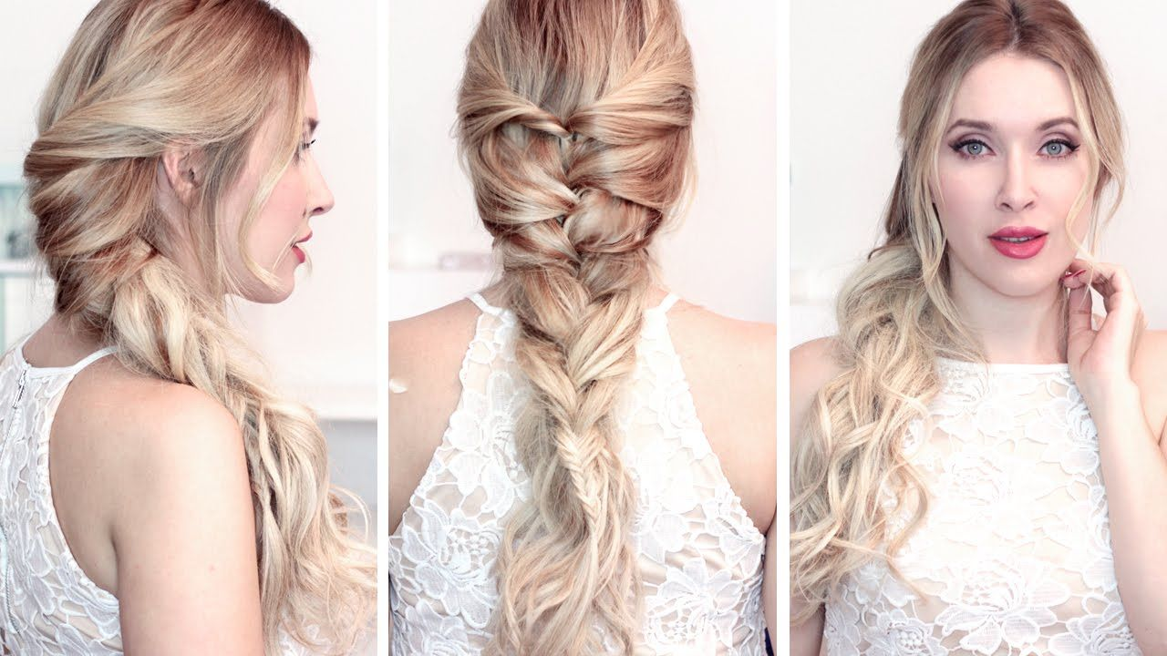Back to school hairstyle tutorial: FAKE french braid, cute ...