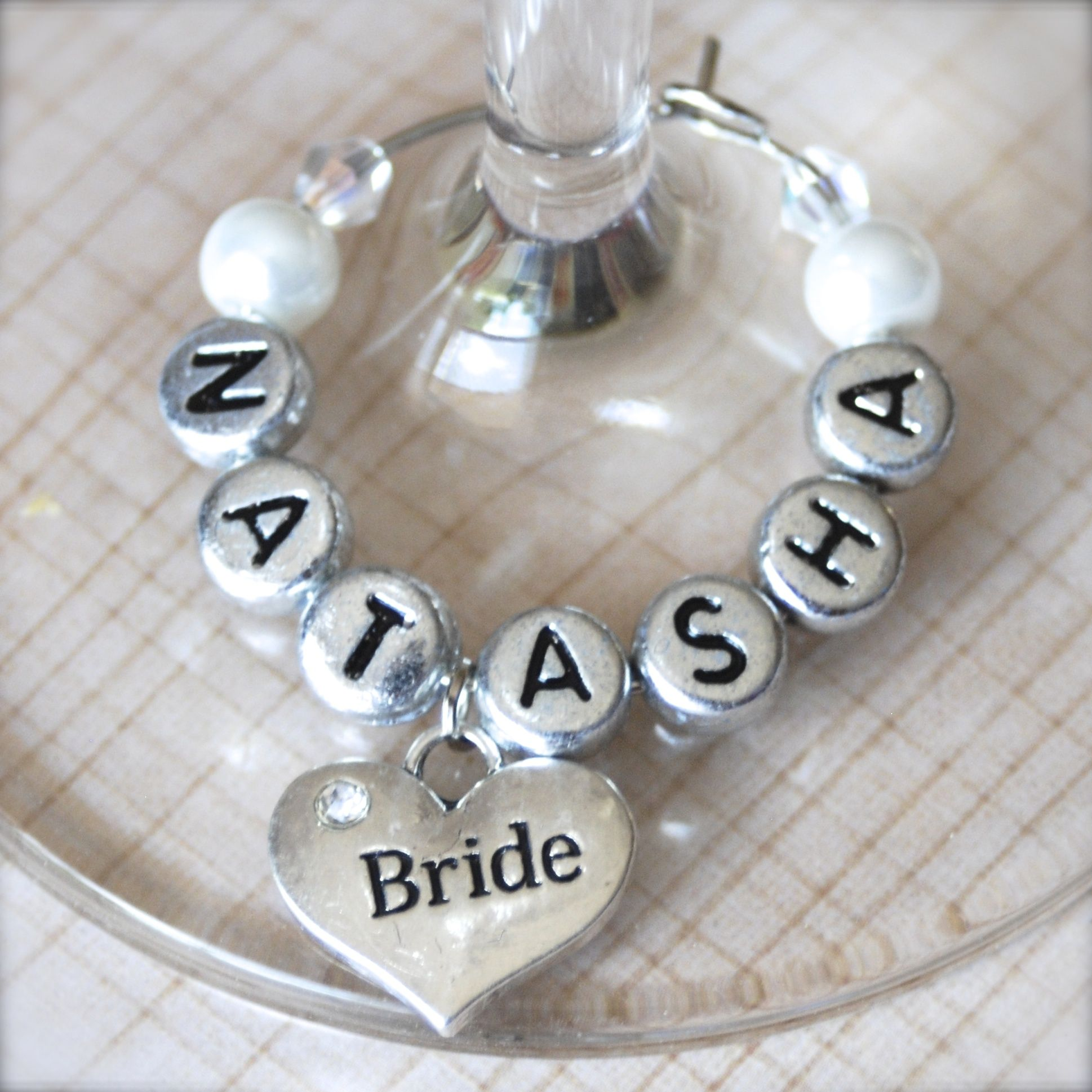 wedding #wine #charms - White Wedding Heart « Winky\'s Widgets | Wine ...