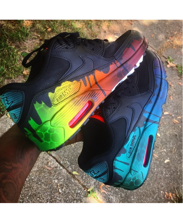 info for 21c9a 4e0a7 Nike Air Max 90 Candy Drip Black Rainbow Trainer https   twitter.com