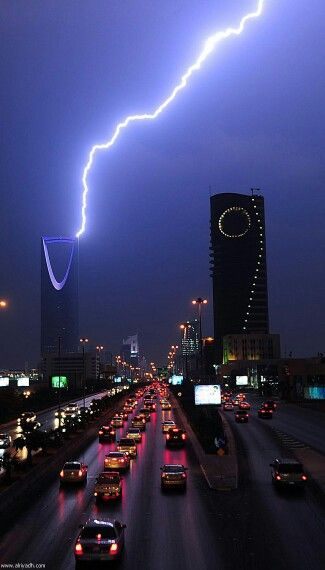 Riyadh Ksa Last Night City View Night Riyadh Saudi Arabia City Sky
