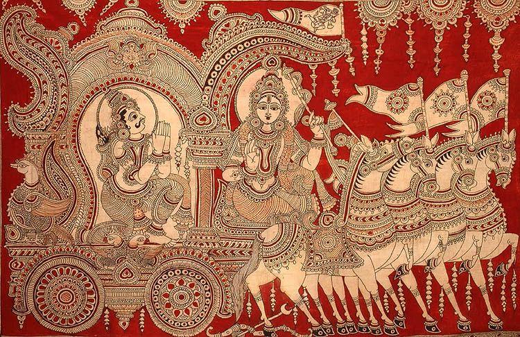 Kalamkari painting, Indian folk art, Madhubani art