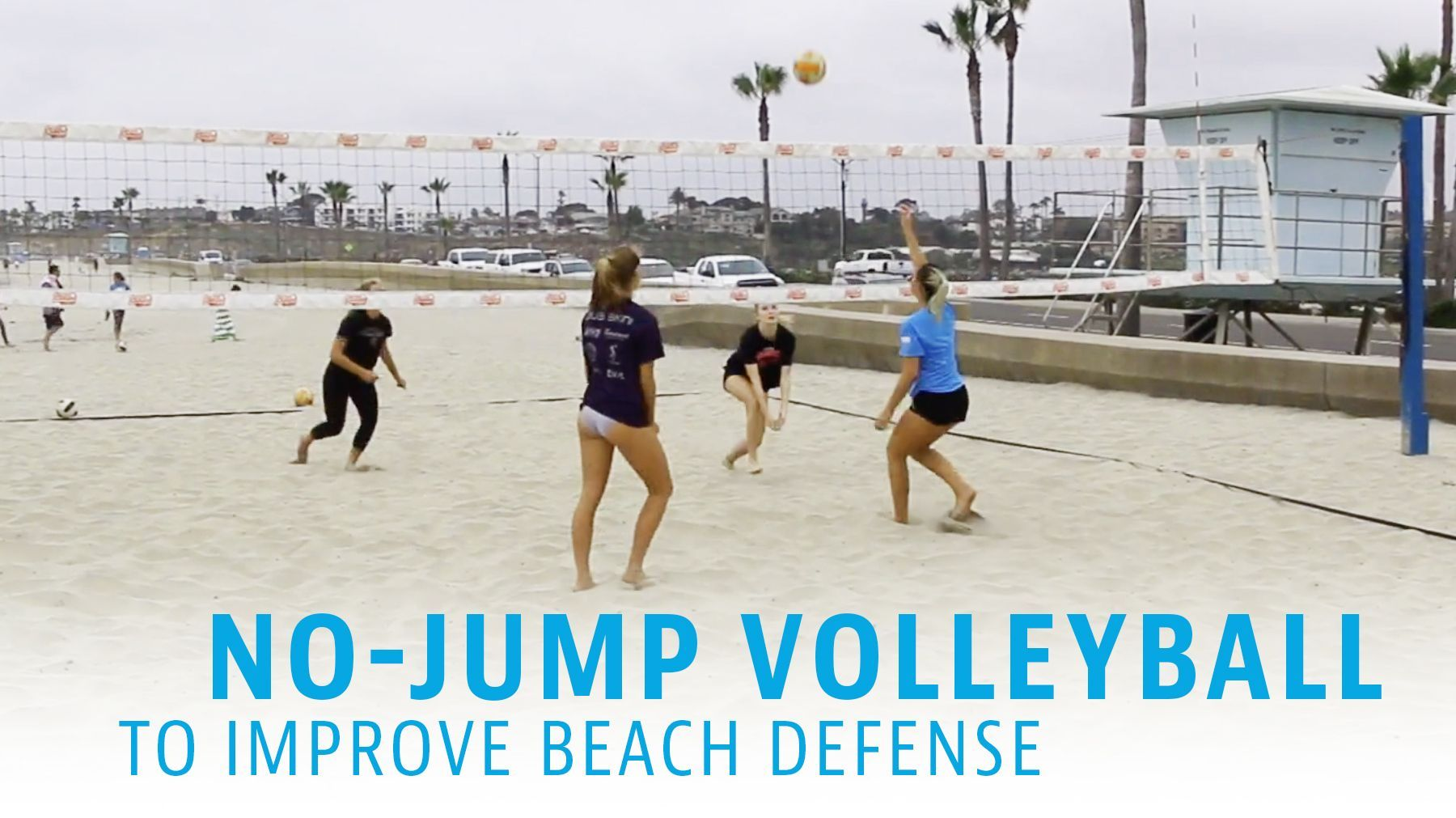 No Jump Volleyball To Improve Beach Defense The Art Of Coaching Volleyball Coaching Volleyball Sand Workout Volleyball