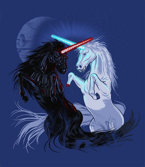 Star Wars Unicorns THIS MAKES US NERDY ABOUT TWO THINGS HAHAHAH