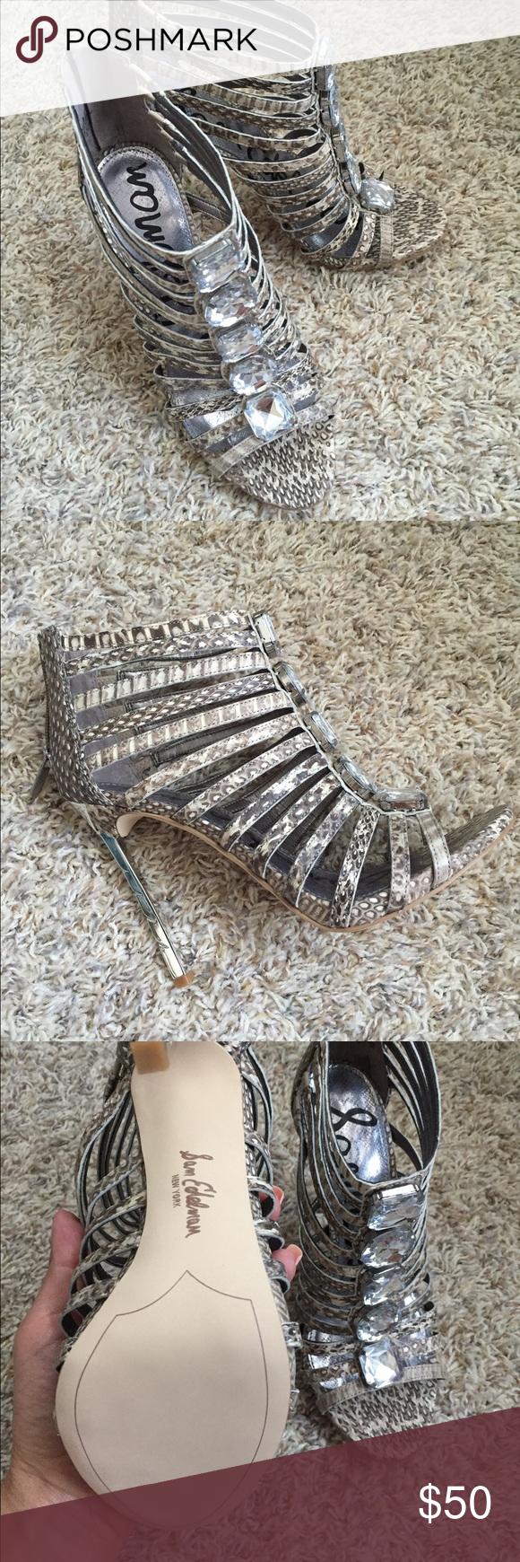 Sam Edelman Hampton Caged Heel- Snake Print, 7.5 Sam Edelman Hampton caged heel, new without box. Snake print. Sam Edelman Shoes Heels