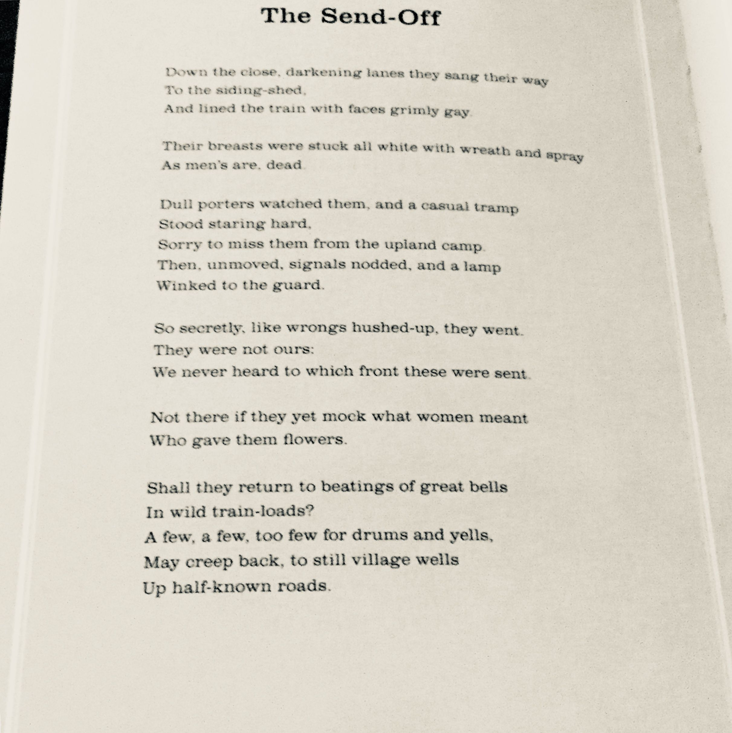 the send off wilfred owen