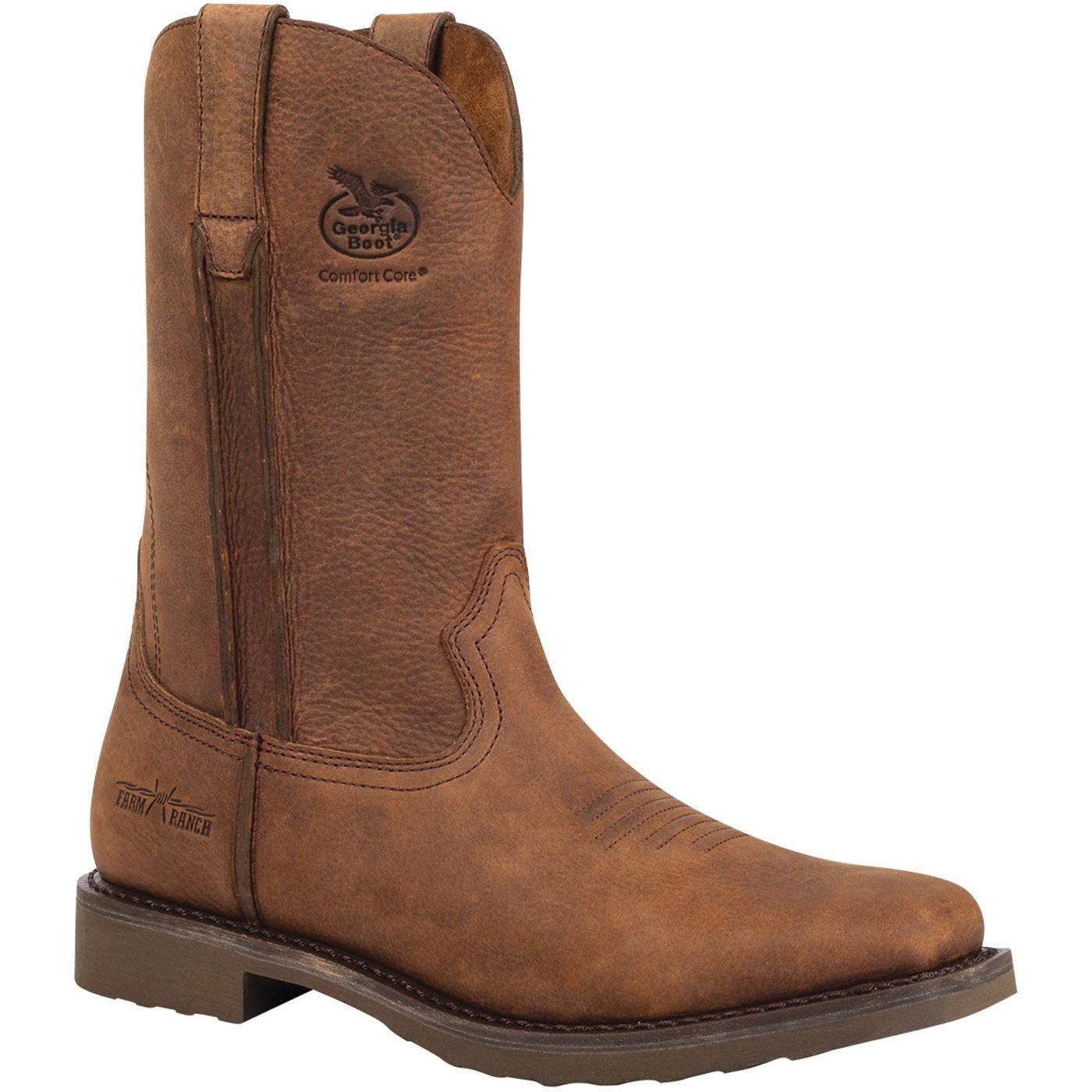 a6452d12801 Georgia Boot Carbo-Tec Men's Composite-Toe Wellington Work Boots ...