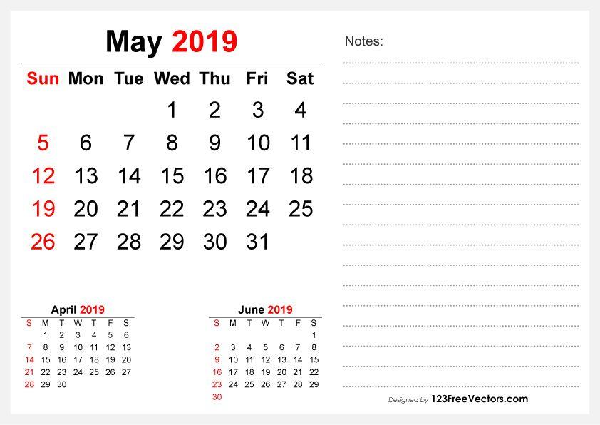 2019 May Desk Calendar Design Free Vectors Pinterest Calendar