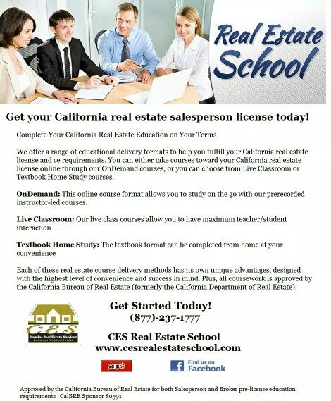 Ces Premier Real Estate Services Real Estate School California Real Estate License Real Estate Education