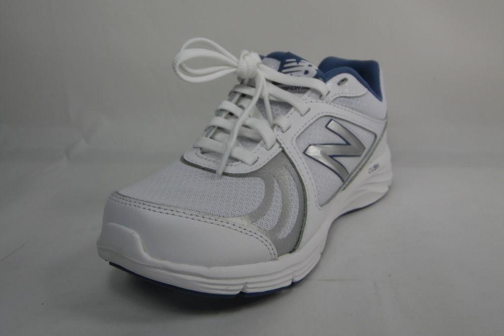 New Balance WOMENS WW496WB3 White and Blue Walking Shoe Atheletic Size 5B