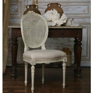 Room · French Reproduction Louis XVI Cane Dining Chair