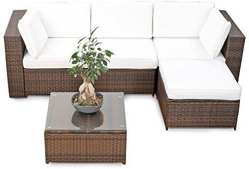 Amazon De Erweiterbares 15tlg Balkon Polyrattan Lounge Ecke Braun Sitzgruppe Garnitur Gartenmobel Lounge Mobel Set Aus Pol Lounge Mobel Mobel Gartenmobel