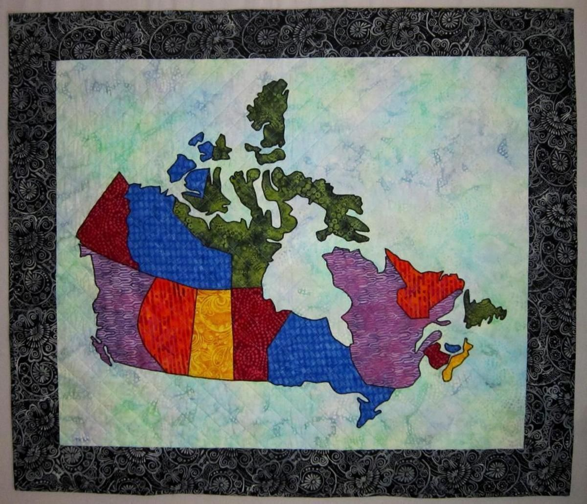 Canada Patchwork Map Quilt | Map quilt and Patchwork : quilting canada - Adamdwight.com