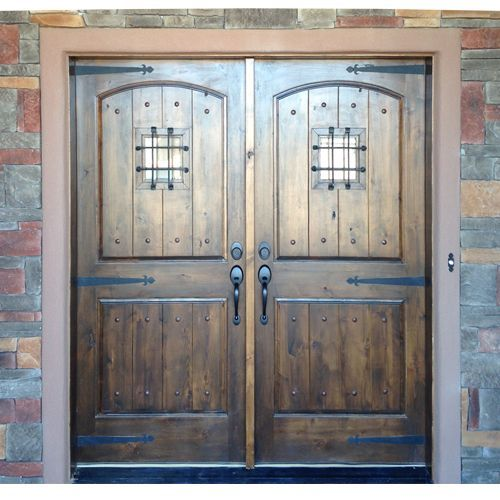Knotty Alder Mediterranean Style Exterior Doors Give The Appearance