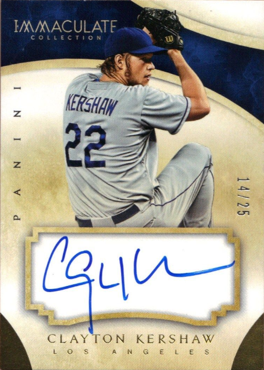 2014 Panini Immaculate Baseball The Dodger Autographed Cards Dodgers Baseball Baseball History
