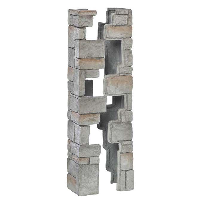 Deckorators Cast Stone Post Covers 42in Gray Cobblestone 2pc Stone Decor Outdoor Remodel Deckorators