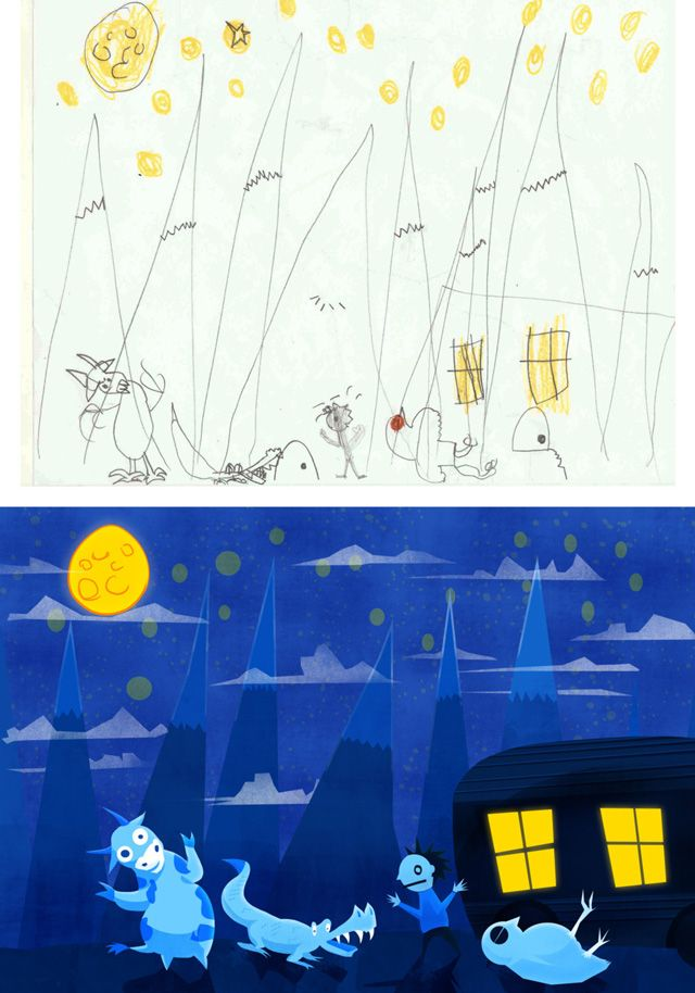 Imaginawesome, Kids' Drawings Recreated By A Professional Artist