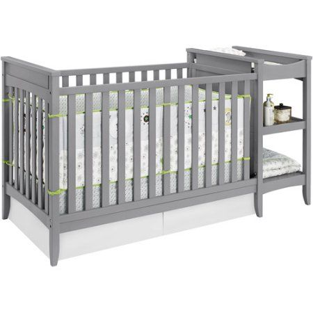 Delightful Baby Relax Emma 2 In 1 Crib And Changing Table Combo Gray