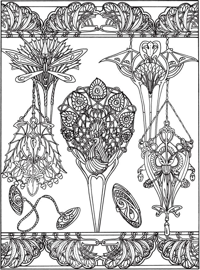 printable coloring page by Dover